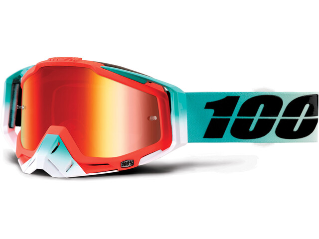 100% Racecraft Anti Fog Mirror - Masque - Bleu pétrole